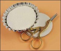 Set of 4 Metal Tart Tins Cross Stitch Needlework Display Mounting Boards Small