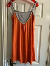 Enfermería Maternidad Vestido Cómodo Talla 10 Naranja Gris