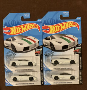 Hot Wheels Lamborghini Reventon Roadster White-HW Roadsters -Lot Of 4 Ships Free
