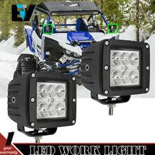 Pair 3Inch LED Work Lamps For Defender HD Commander 1000 YAMAHA CAM-AM ALL UTV