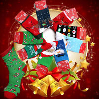 Mens Women Christmas Warm Cotton Socks Santa Snowman Snowflake Socks Stockings