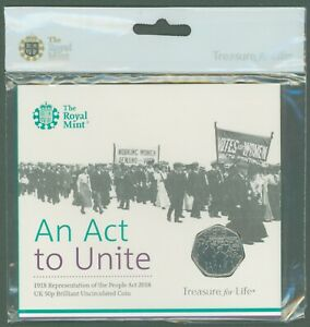 Royal Mint 2018 50p Coin - An Act to Unite