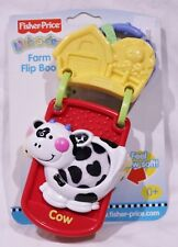 FISHER-PRICE LINK-A-DOOS FARM FLIP FEEL BOOK BABY TOY 2004 NEW RETIRED CHRISTMAS