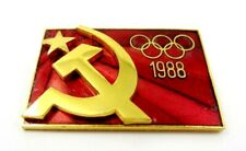 OFFICIAL OLYMPIC PIN BADGE  USSR SOVIET NOC OLYMPICS SEOUL 1988