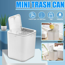 Cute Mini Desktop Small Waste Bin Basket Trash Can Table Office Garbage Home R