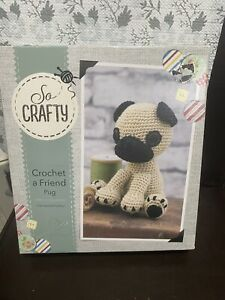 Crochet A Friend Pug Boxed Crochet Kit So Crafty Complete Xmas Gift