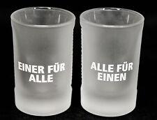 """Jägermeister Likör Shotglas 2 cl, Freundeglas, Schnapsglas,Relief,""""Einer für ..."""