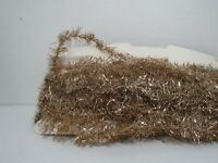 Vintage Victorian Gold Metal Tinsel Garland Continuous 5.3yd/16ft/192in