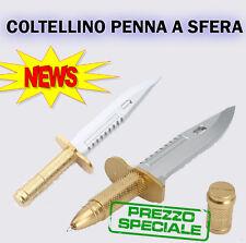 Coltellino Penna Sfera Knife Pen- Ballpoint Gift Joke Rambo Weapon Crafts Regalo