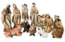 "12"" Tall Nativity Set - Baby Jesus, Mary, Joseph, Shepherd, 3 Kings New"