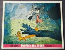 Disney Sword in the Stone Original Lobby Card - Wolf & Squirrel