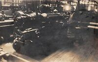 C61/ Occuptional Worker Photo RPPC Postcard c1910 Factory Interior Machine 19