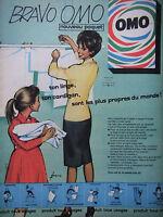 PUBLICITÉ DE PRESSE 1961 BRAVO OMO NOUVEAU PAQUET - COURONNE - ADVERTISING