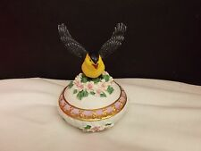 Round Songbird Treasures Music Box Collection Fur Elise Goldfinch Yellow Bird