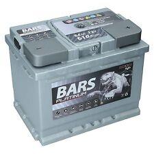BARS PLATINUM Starterbatterie 12V 64 Ah 610A ersetzt 52Ah 54Ah 55Ah 60Ah 62Ah