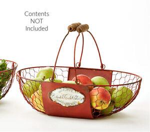 Vintage Metal Egg Basket Metal Basket Farmhouse Decor Free Shipping