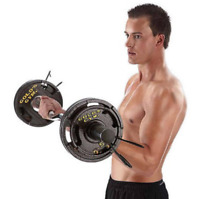 """Weightlifting Barbells 2"""" 50 lb Weight Plate Set Fitness Sports Training Workout"""