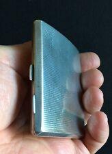 Sterling Silver Engine-Turned Cigarette Case - Sampson Mordan & Co. London 1929