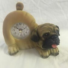 4th of JULY SALE Critter Clock Pug Tabletop Wagging Tail Puppy Dog