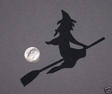 4 Flying Witches Premade PAPER Die Cuts / Scrapbook & Card Making