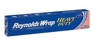 "Reynolds Wrap 18"" Heavy Duty Aluminum Foil, 150 sq. ft 2 Count"