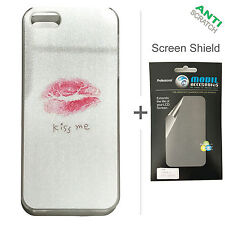 BACK+FACE Kiss ME Hard Plastic Case + Screen Protector for Apple iPhone 5 5S