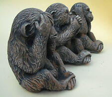 3 Wise Monkeys - See no evil speak no evil hear no evil.  GARDEN ORNAMENTS