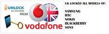 UK Vodafone Samsung, Nokia, Sony, Blackberry, HTC tutti i modelli Codice Di Sblocco
