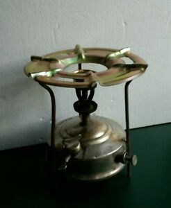 antique Brass camping cooking Kerosene stove  in outdoor