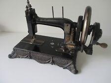 Rare antique cast iron 1890 Biesolt & Locke Meissen Sewing machine Swags design