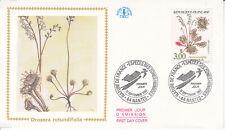 Enveloppe maximum 1er jour 1992 - Nature Fleurs Drosera Rotundifolia