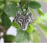 Ancient Viking Norse Big Wolf Head Amulet Talisman Pendant Vintage Rope Necklace