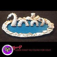"""JJ"" Jonette Jewelry Silver Pewter 'Sea Serpent in Lake Lighthouse ' Pin"