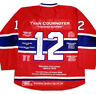 Yvan Cournoyer Career Jersey - Autographed - LTD ED 199 - Montreal Canadiens