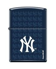 Zippo 0810 New York Yankees Logo Navy Blue Matte Lighter