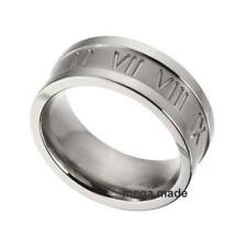 9MM Roman Number Wedding Band Engagement Titanium Ring Men Fashion Jewelry Sz9.5