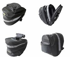 BIKE BICYCLE REAR SADDLE BAG STORAGE COMPARTMENT ZIP UP HOLD STORE POUCH BAG