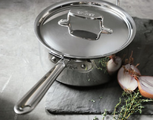 All-Clad Stainless Steel D5 - 3 Quart Saucepan w Lid NWOB Free Shipping