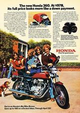 1976 Honda 360 Motorcycle Original Advertisement Print Ad J538