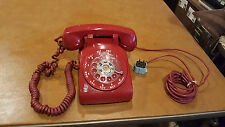 Vintage RARE. Western Electric 510 RED Rotary Dial Desk Phone 1966