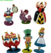 "2.4""- 4"" New 6pcs figures Alice's Adventures in Wonderland Figurine Toy Doll"