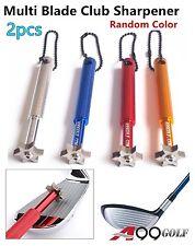 2pcs A99 Golf Multi Blade Club Sharpener Wedge Iron Regrooving Tool Random Color