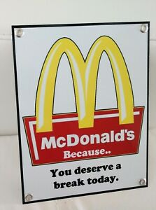 Burgers Fries restaurant fast food nostalgia Sign