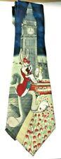 100%SILK BIG BEN RED BUS THEME QUALITY TIE