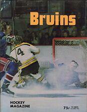 1973 Bobby Orr 7 Point Program Boston Bruins NY Rangers