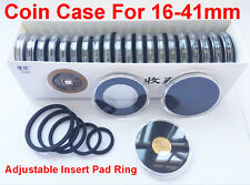 10x Us Commemorative Capsules Coin Holders Case+Black Ring 16- 41mm for Choose