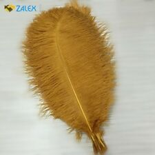 10pcs Ostrich Feathers 16-18inch 40-45cm for Home Wedding Decoration Gold New