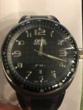 ESTATE SALE!!!  ORIS 7589 TT3 Automatic TITANIUM BlackRubberBand/DIAL/FACE $1495