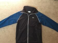 Boys Lacoste Sport Tracksuit Zip Jacket Black/Blue With White Size 2 XS Age 14