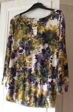 NEXT Ladies 3/4 Length Sleeve Floral Maternity Top Size 14 / EUR 42 - BNWT
